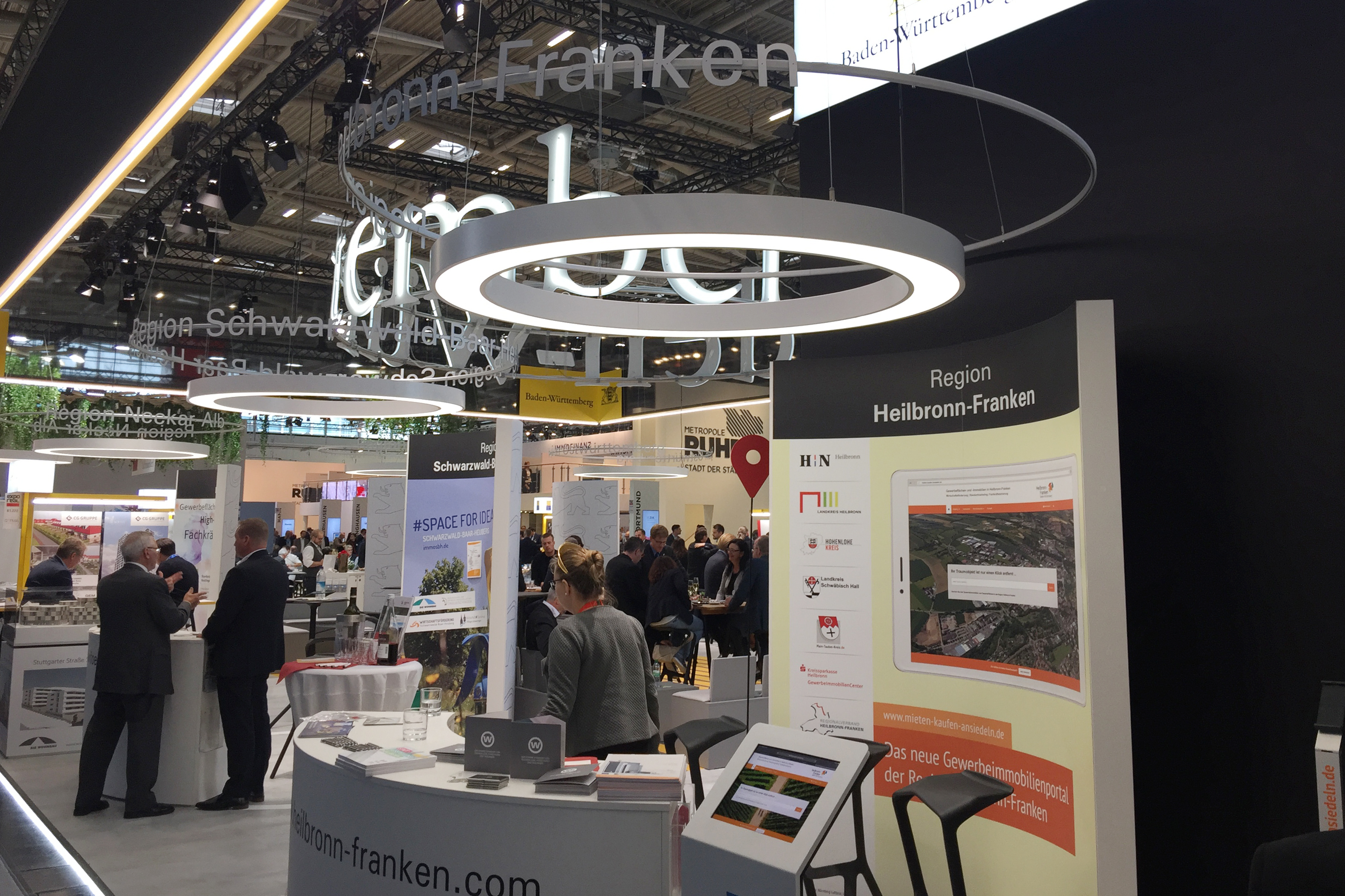 Messestand auf der EXPO REAL