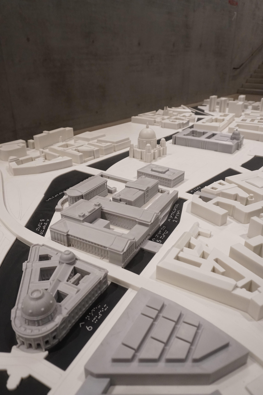 Städtebauliches Modell der Museumsinsel Berlin