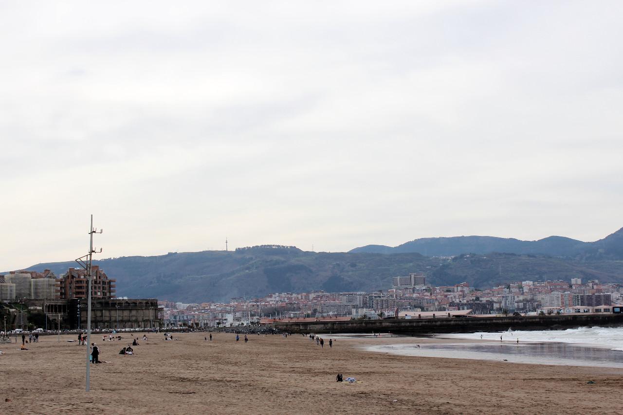 Der Strand von Gexto nahe Bilbao