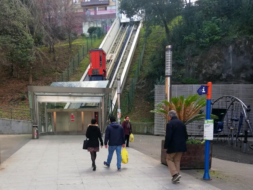 Mit dem Funicular auf den Berg Artxanda in Bilbao