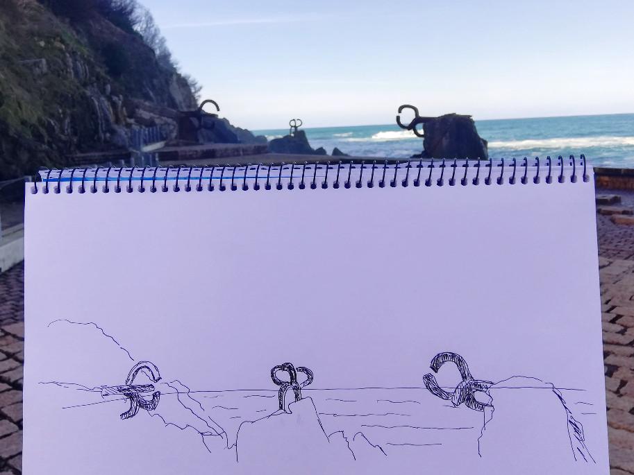 Schnelle Skizze der Windkämme